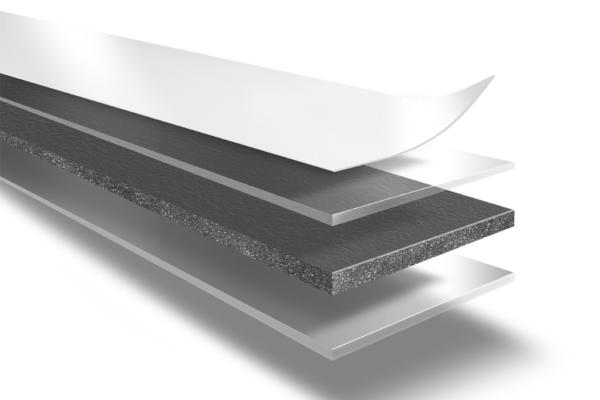 Двухсторонняя лента на вспененной основе, покрытая чистым акриловым клее Lohmann