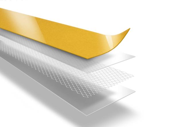 Двусторонняя лента Ломанн на сеточной, тканной основе
