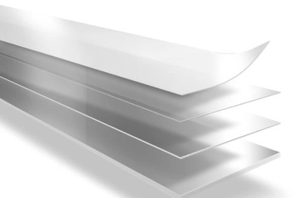 двусторонняя клейкая лента с различной адгезией на полиэтиленовой основе